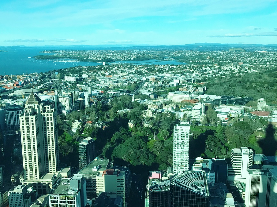 View across Auckland from the Sky Tower