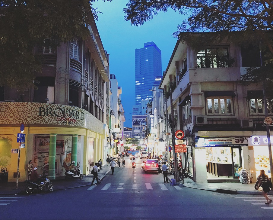 Street view in Saigon Ho Chi Minh City
